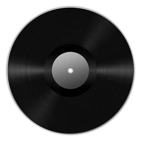 Digital creation of a black vinyl record with dynamic lighting. Stock Photo - 5255407