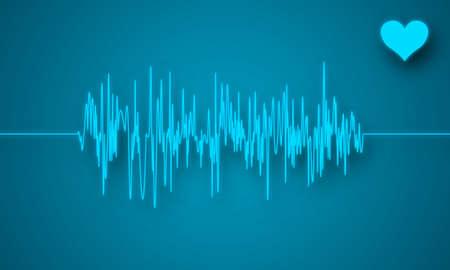 La creación digital de un electrocardiograma muestra latidos del corazón perturbado. Foto de archivo - 5278855