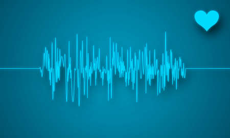 La creaci�n digital de un electrocardiograma muestra latidos del coraz�n perturbado. Foto de archivo - 5278855
