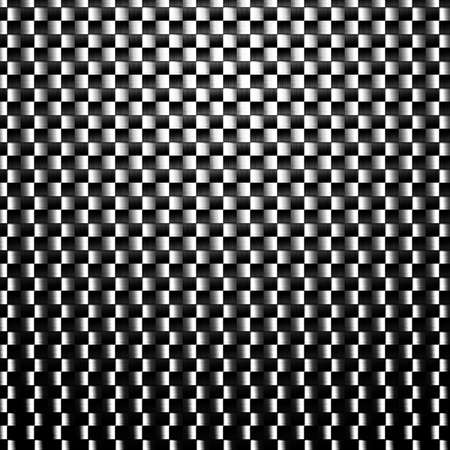 Digital creation of a carbon texture with black and white fibers. photo