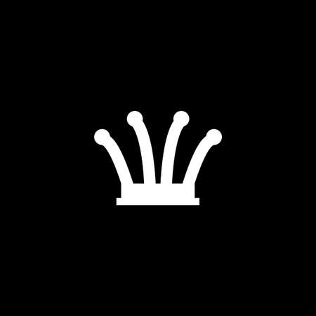 Queen chess piece logo. Text can be added in edit menu. Vector eps.10
