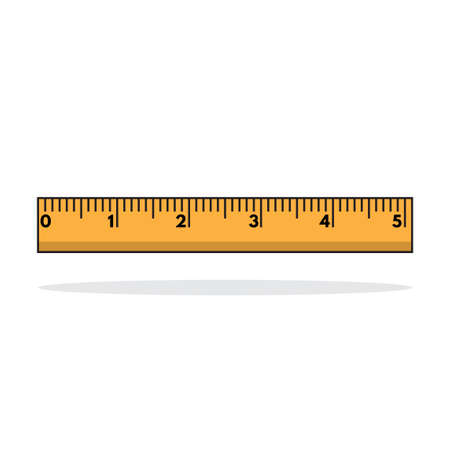 Ruler 5 inches icon. Ready for school theme, blog, poster, banner, sales, template, etc. Vector eps.10