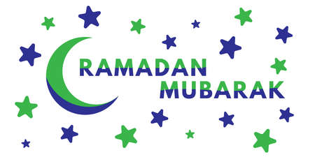 Ramadan Mubarak typography. Perfect for Greeting card, banner or poster, Sale, etc. Vector eps.10