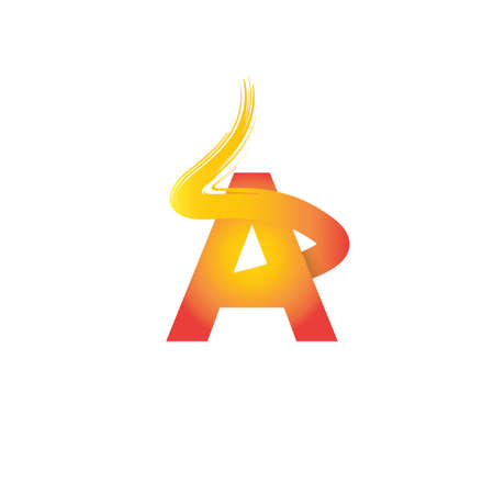 A letter with fire design. Perfect for logo, icon, brand, etc. Vector eps.10 Stock Illustratie