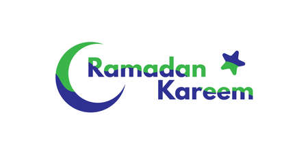 Ramadan kareem text design. Perfect for greeting, banner, poster, etc. Typography. Vector eps.10