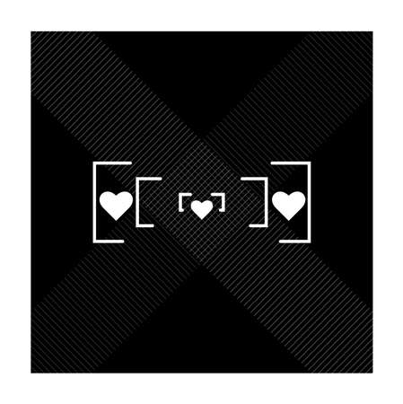 Abstract love icon design. Text can be put at space between square. Vector eps.10  イラスト・ベクター素材