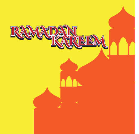 Ramadan Kareem greeting card design. Ready for template, banner, poster, etc. Typography. Vector eps.10