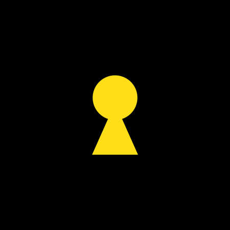 Key hole vector with yellow design
