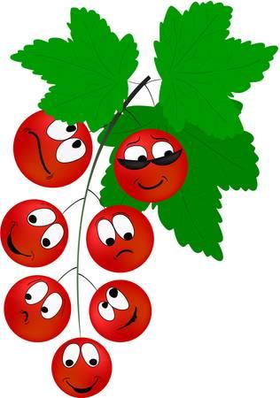 다른 감정 만화 빨간 건포도 열매