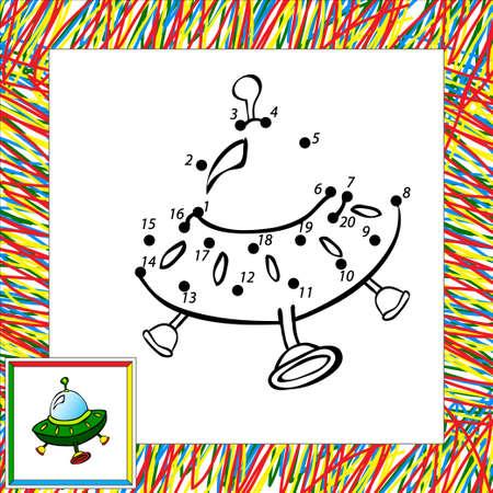 Cartoon vector raket (vierde). Dot dot