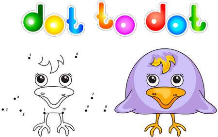 Cuervo Divertido Y Lindo. Ilustración Vectorial Para Los Niños ...