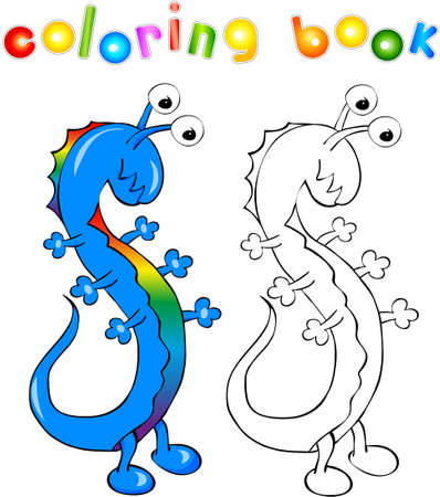 Cartoon Dragon Footballer Coloring Book For Kids Royalty Free