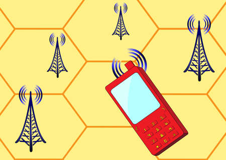 cellular telephone: Cellular telephone and radio stations send signals to each other
