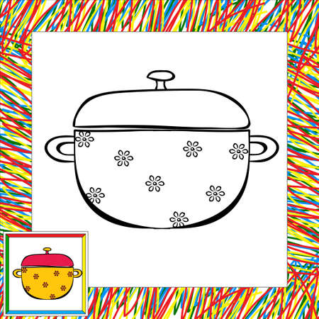 for children: Pan coloring book. Vector illustration for children Illustration