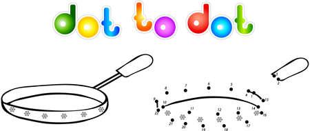 fryer: Fryer dot to dot coloring book. Vector illustration for children Illustration