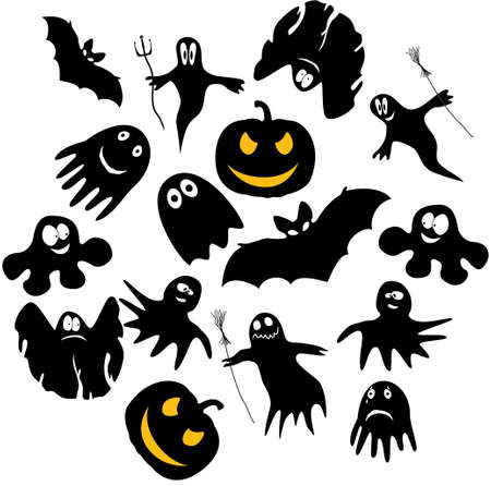 Funny ghosts for Halloween