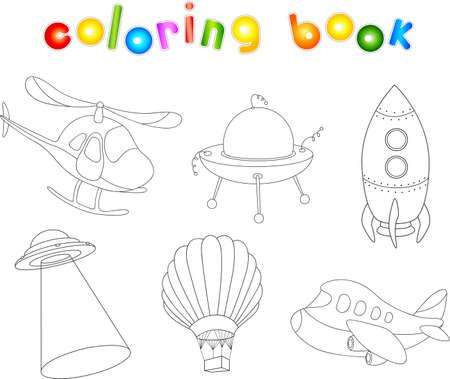Aviones De La Historieta Divertida. Libro Para Colorear Para Los ...