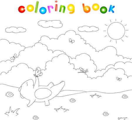 Pantano Libro Para Colorear. Ilustración Fotos, Retratos, Imágenes Y ...