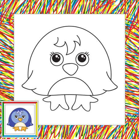 Pingüino Divertido De La Historieta. Ilustración Para Niños. Libro ...