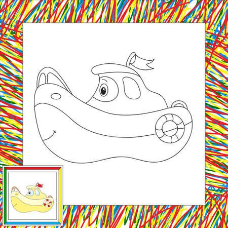 Conjunto De Autobús, Barco Y Helicóptero. Libro De Colorante Para ...
