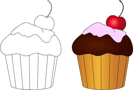 Süß Und Lecker Makronen. Malbuch Für Kinder über Das Essen. Vektor ...