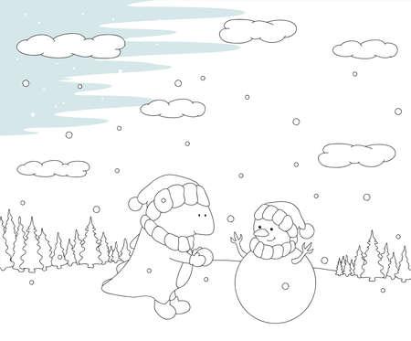 Weihnachten Kamin, Schneeflocke, Hut Und Kerze. Malbuch Für Kinder ...