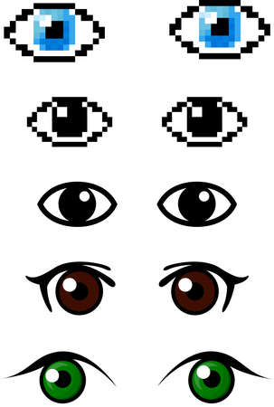 cover art: Set of different eyes. Vector illustration