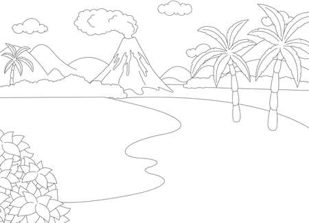 volcanic eruption: Volcanic eruption Coloring book for kids.