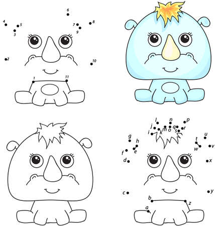Cartoon queen and rhino alphabet tracing worksheet writing a z coloring book and dot to dot educational game for kids altavistaventures Gallery