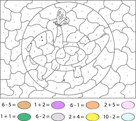 Atemberaubend Schmetterling Farbe Nach Anzahl Arbeitsblatt Ideen ...