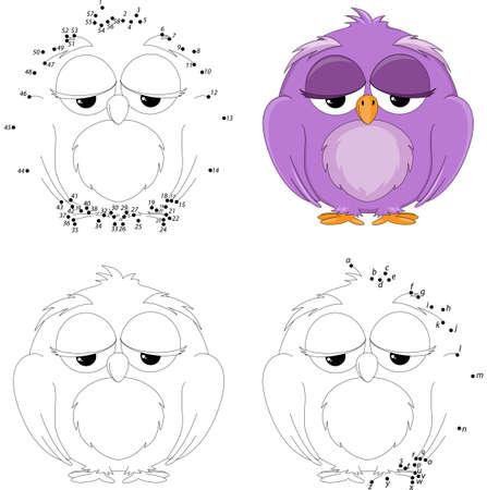 Funny Cartoon-Hamster. Vektor-Illustration. Färbung Und Punkt Zu ...