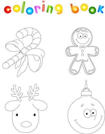 Navidad Ciervos. Libro De Colorear Para Niños Ilustraciones ...