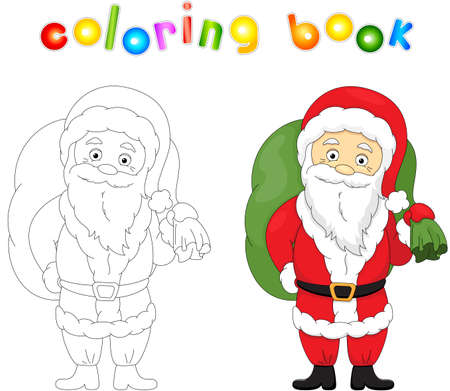 christmas santa coloring book for kids stock vector 67074634