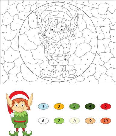 Großartig Weihnachten Farbe Nach Anzahl Arbeitsblätter Galerie ...