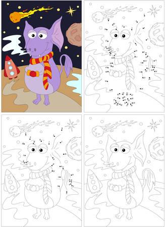 Astronauta De Dibujos Animados, Extranjero, Cohetes Y Planetas ...