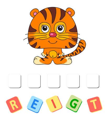 Cartoon tiger crossword. Order the letters