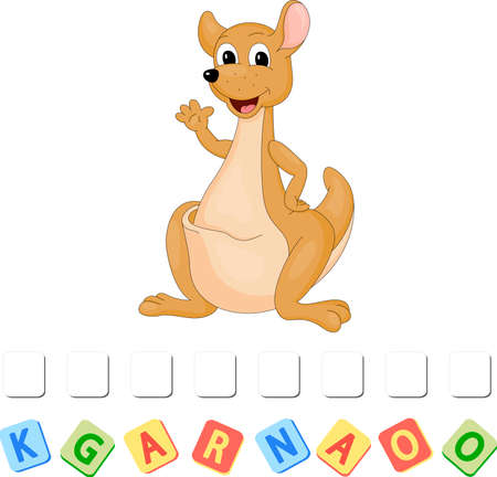 Cartoon kangaroo crossword. Order the letters