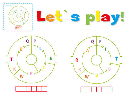 Play and write the words turtle and rabbit. Find a way out of the maze and make words out of letters