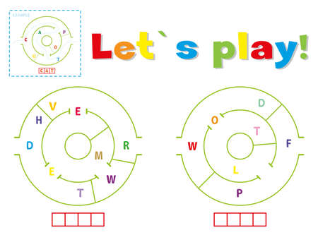Play and write the words deer and wolf. Find a way out of the maze and make words out of letters