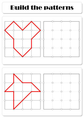 Build the correct patterns. Educational game for kids
