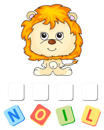 Cartoon lion crossword. Order the letters