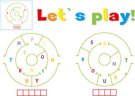 Play and write the words train and boat. Find a way out of the maze and make words out of letters