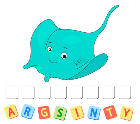 Cartoon stingray crossword. Order the letters