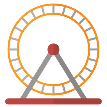 Flat cartoon hamster wheel icon Ilustrace