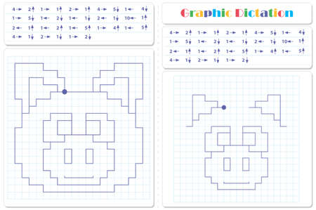 Draw a picture on the arrows. Cartoon graphic pig. Worksheet for kids