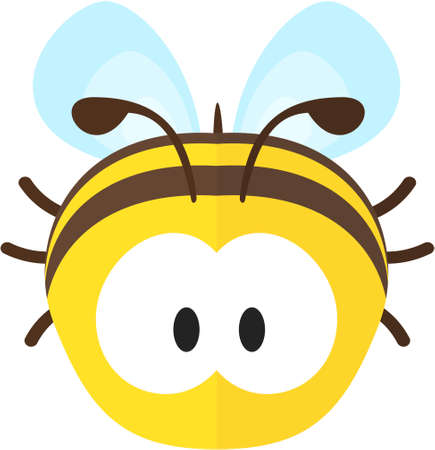 Funny cartoon bee. Flat icon. Illustration for kids Ilustrace