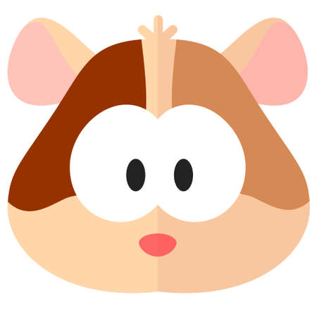 Flat cartoon hamster web icon