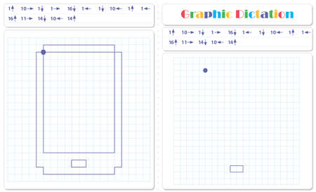 Draw a picture on the arrows. Cartoon graphic smartphone. Worksheet for kids