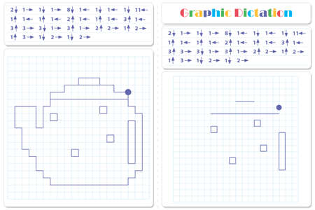 Draw a picture on the arrows. Cartoon graphic teapot. Worksheet for kids Illustration