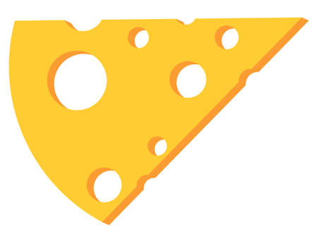 Flat icon of cheese. Web cartoon illustration Ilustrace